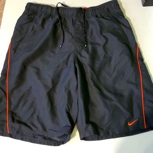 Nike men's S grey & red athletic lined shorts